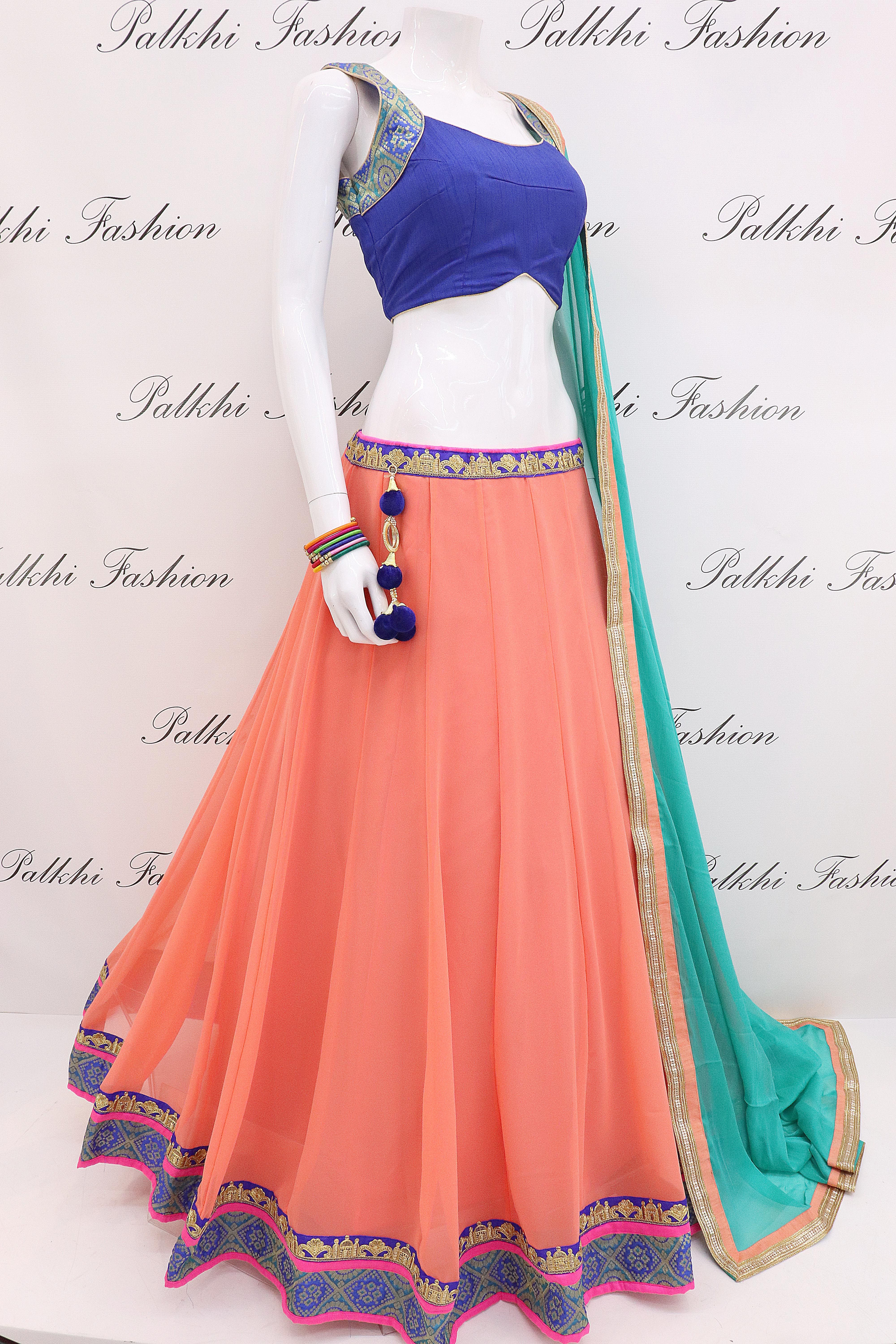 9ec10a1534 Pure Georgette Chaniya Choli With Beautiful Color Combination in ...