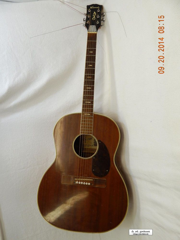 kawai acoustic guitar mid 60 39 s vintage f611b used some repair needed as is acoutic guitar. Black Bedroom Furniture Sets. Home Design Ideas