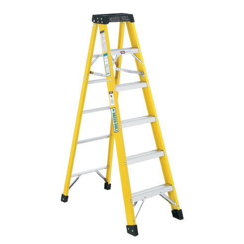 10 Ft Fiberglass Step Ladder 300 Lb Green Bull Step Ladders Ladder Fiberglass