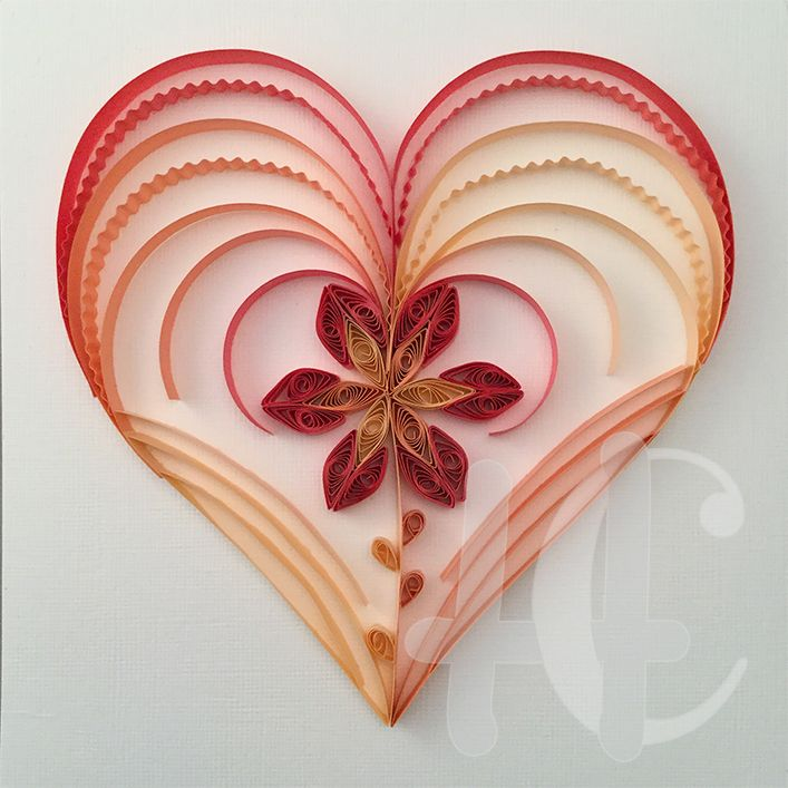 Quilling heart pinteres for Quilling heart designs
