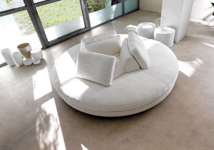 Canap demi lune et canap rond 55 designs for Chaise demi lune