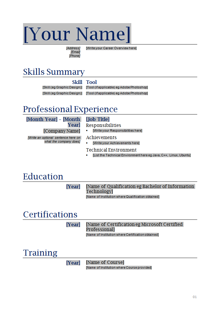 How To Make A Resume Sample