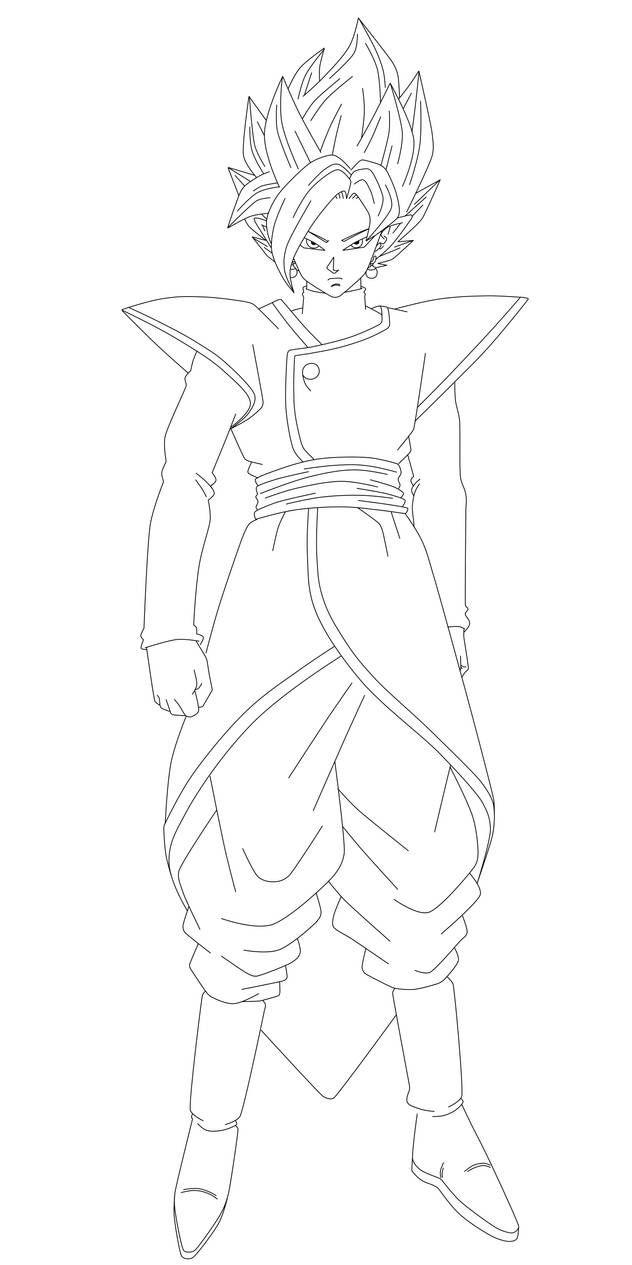 Zamasu Black And Zamasu Fusion 2 Lineart By Nekoar On