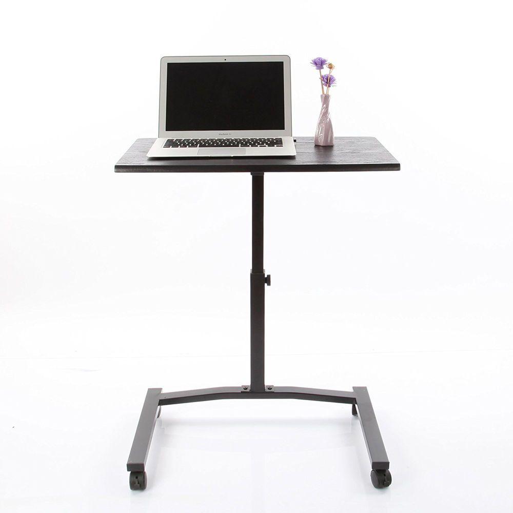 Laptop Desk Mobile Table Rolling Cart Stand Computer Portable Adjustable Office Vecelo Modern Mobile Table Home Office Furniture Computer Stand