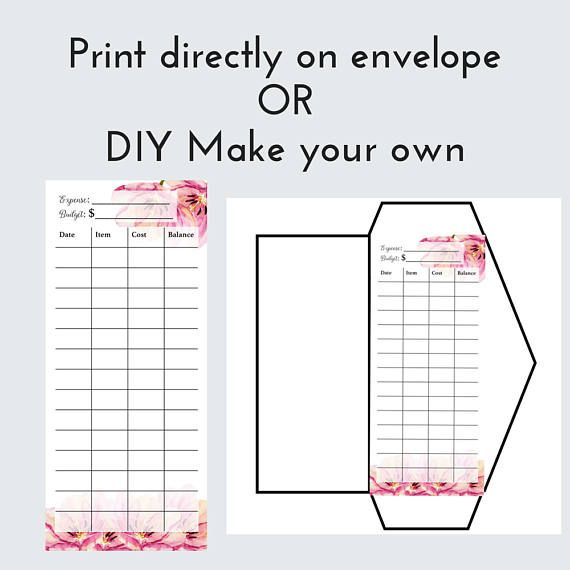Diy Cash Envelope Printable Cash Budgeting Template Dave Ramsey