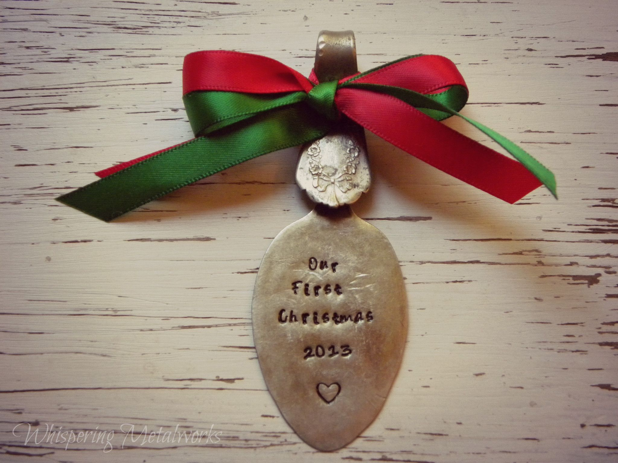 Our First Christmas 2013 spoon ornament - your choice of ...