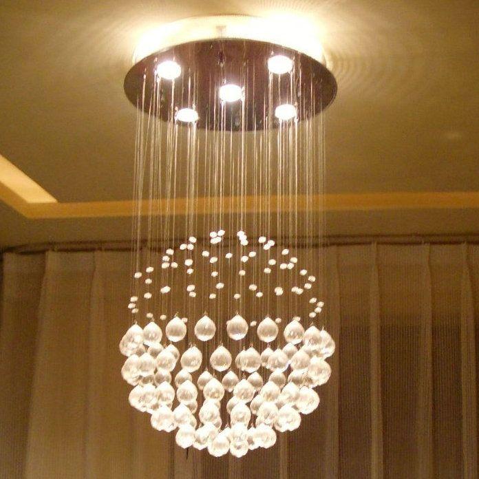venta caliente de lujo k9 de cristal colgante esférica candelabros de accesorio de iluminación con diferente tamaño de envío gratis. SUNRISING LIGHTING STORE ...