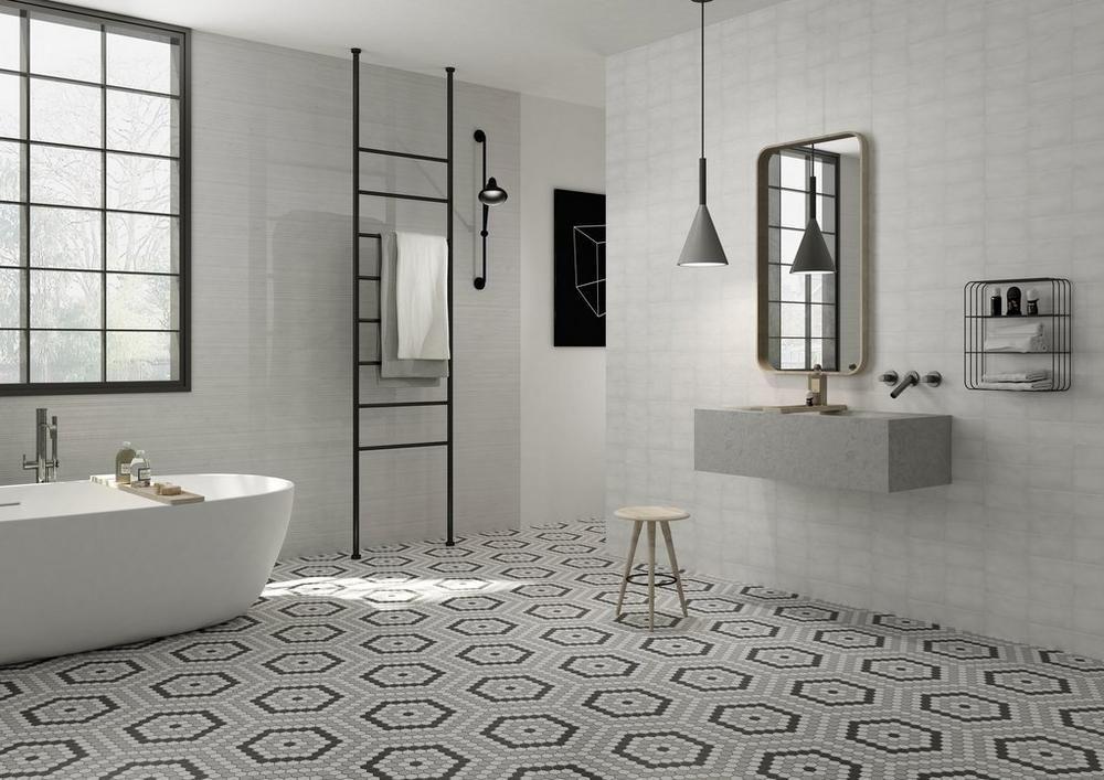 retro 1 in hexagon porcelain mosaic  porcelain mosaic