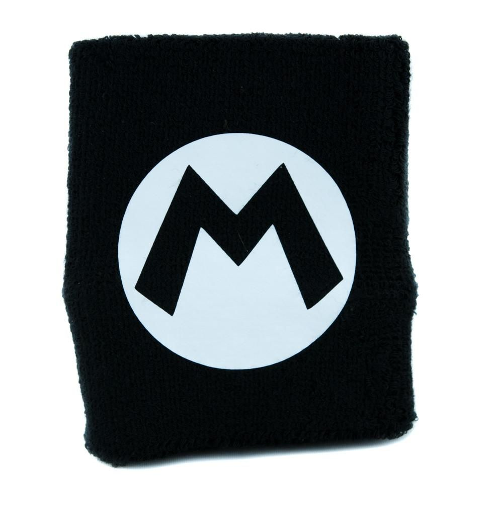 Super mario bros m symbol wristband sweatband alternative m symbol wristband sweatband alternative clothing nintendo gamer buycottarizona