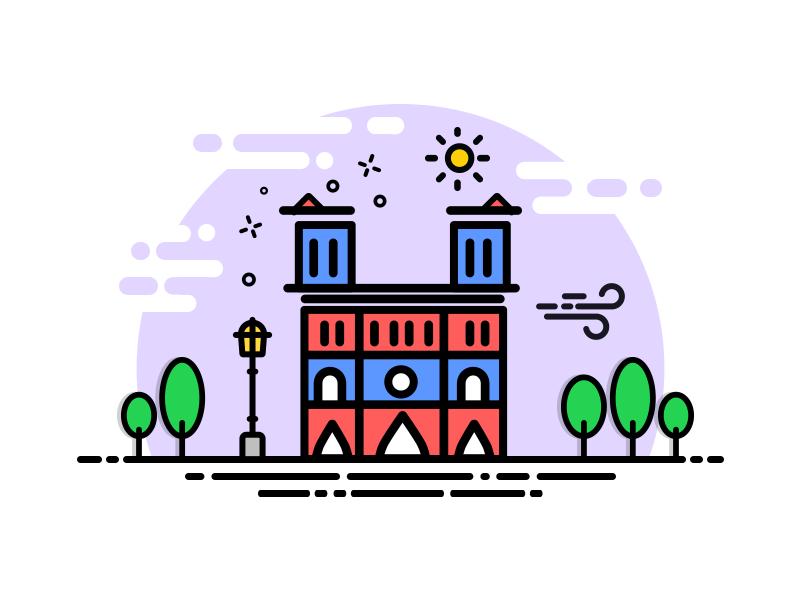 Notre Dame De Paris Cute Little Drawings Instagram Highlight Icons City Icon