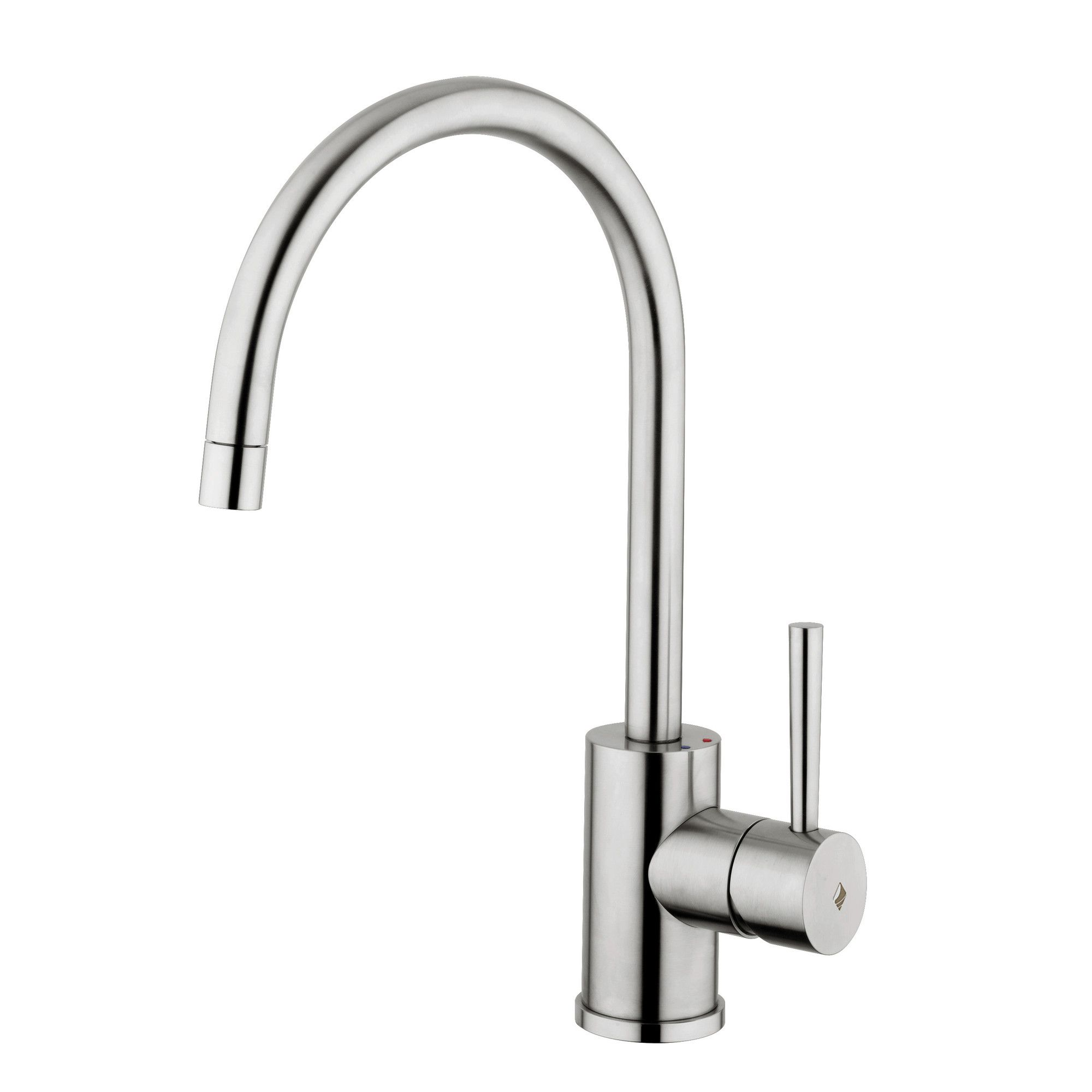 WS Bath Collections Fonte Steel e Handle Single Hole Kitchen