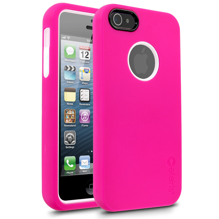 Cellairis Rapture Full Moon Case for Apple iPhone 5 - Hot Pink/White