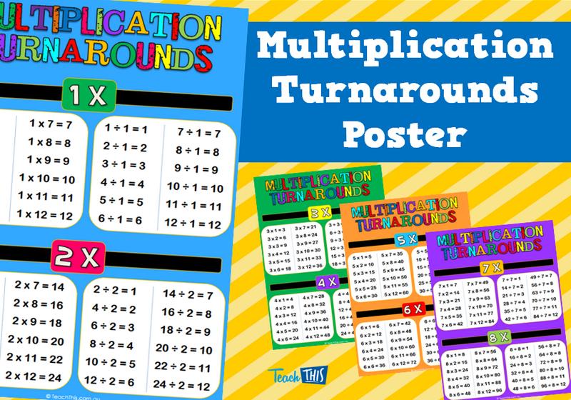 Multiplication Turnarounds Poster | Mathematics | Pinterest ...