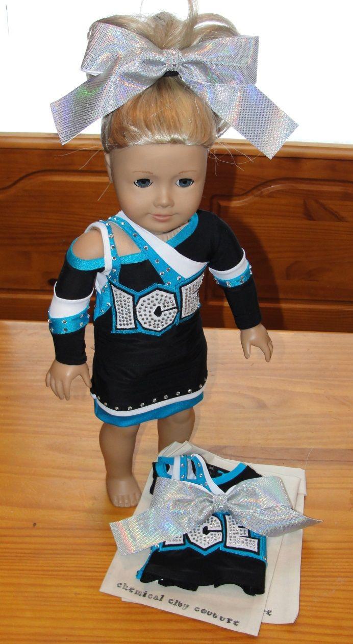 "custom ""ice"" cheer uniform"