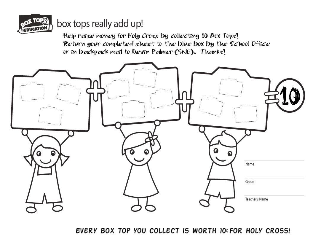 Box Tops Collection Sheet