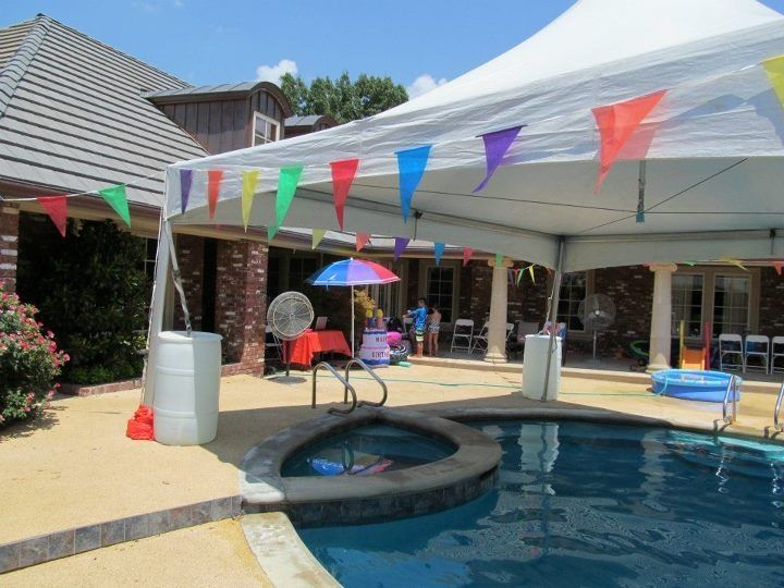 Tent over Pool at a Birthday Party & Tent over Pool at a Birthday Party | Tented Events | Pinterest | Tents