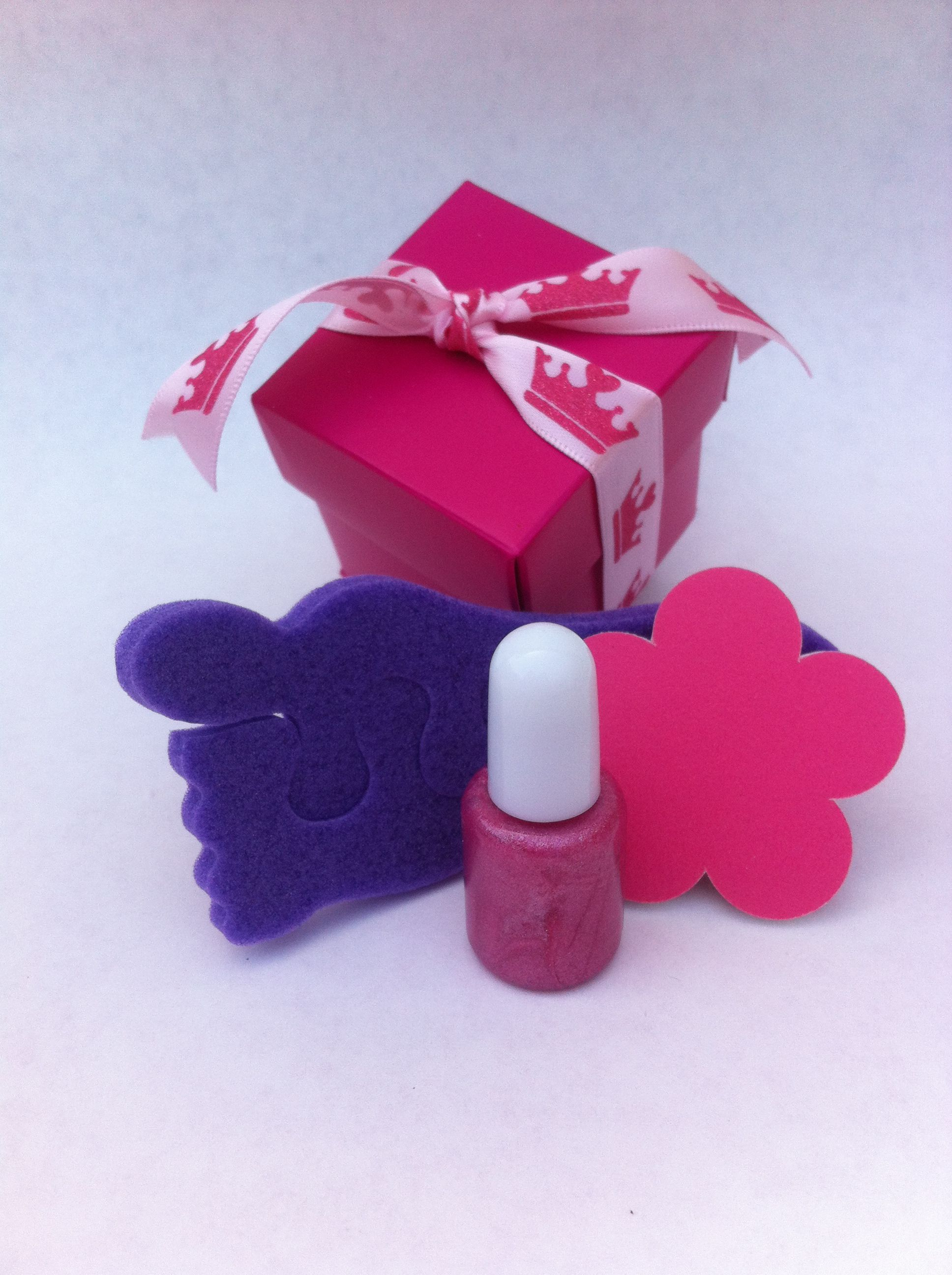 Princess pampering kit including sparkly nail polish, flower nail ...