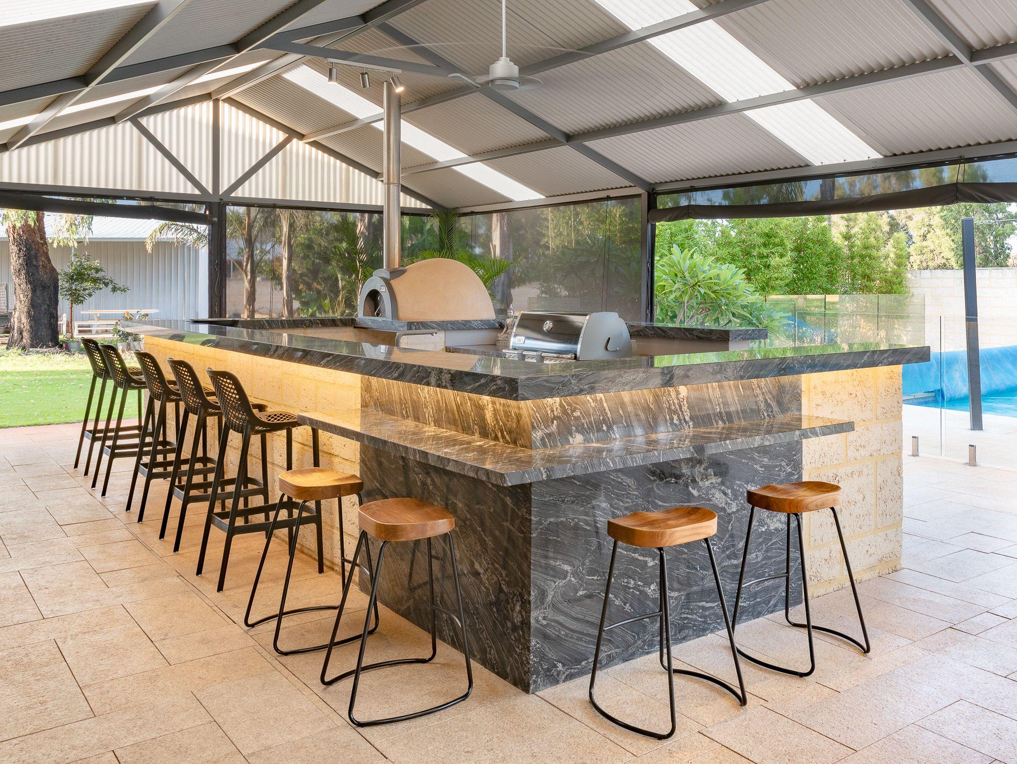 Our most extravagant Outdoor Alfresco Kitchen install yet