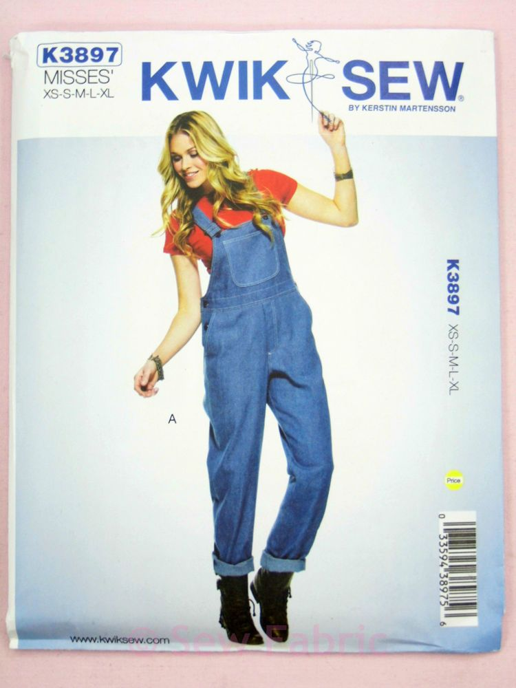Kwik Sew K3897 Sewing Pattern Misses\'/Ladies Overall\'s/Dungaree\'s ...