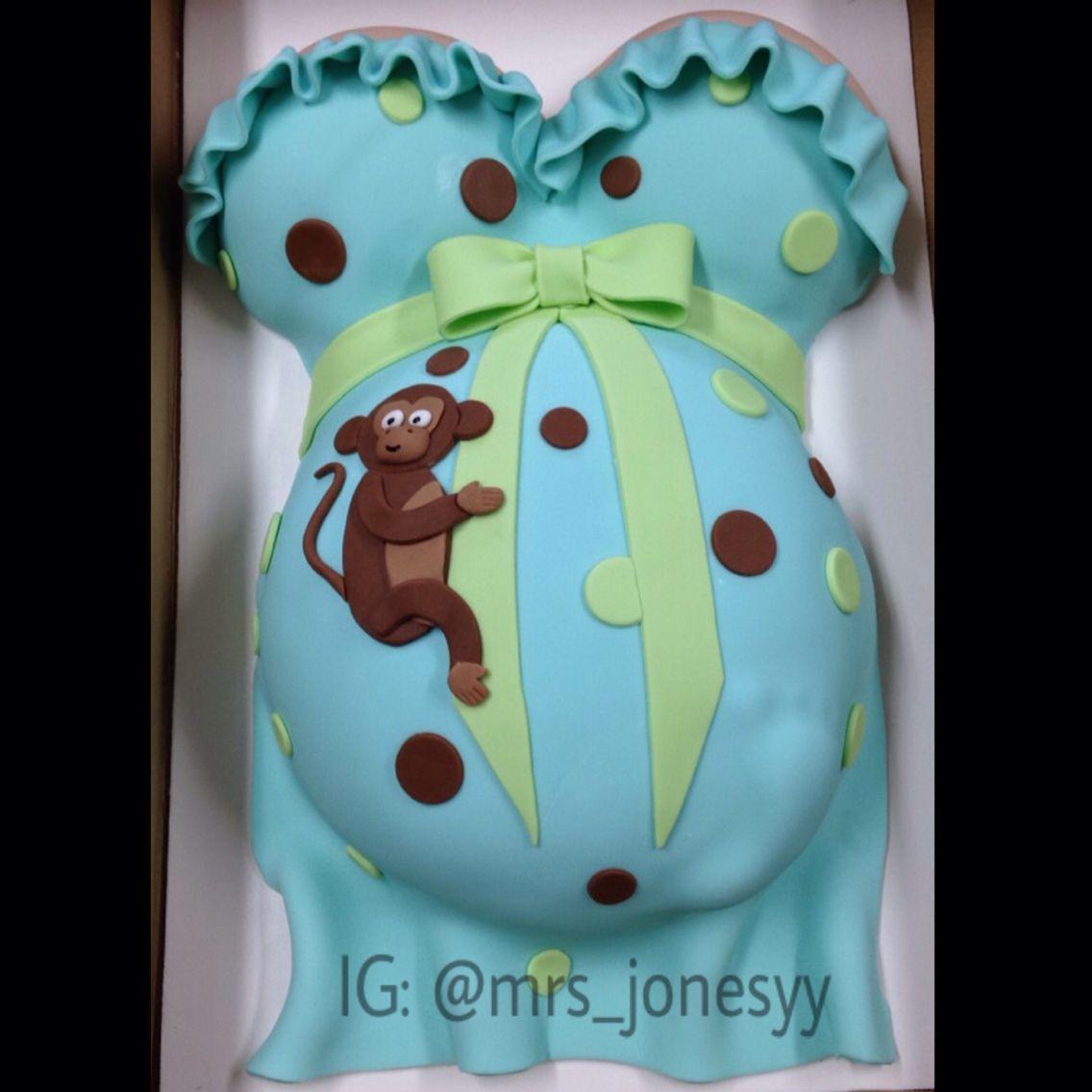 My monkey themed baby shower cake pregnancy and baby stuff pinterest monkey themed baby - Baby shower cakes monkey theme ...