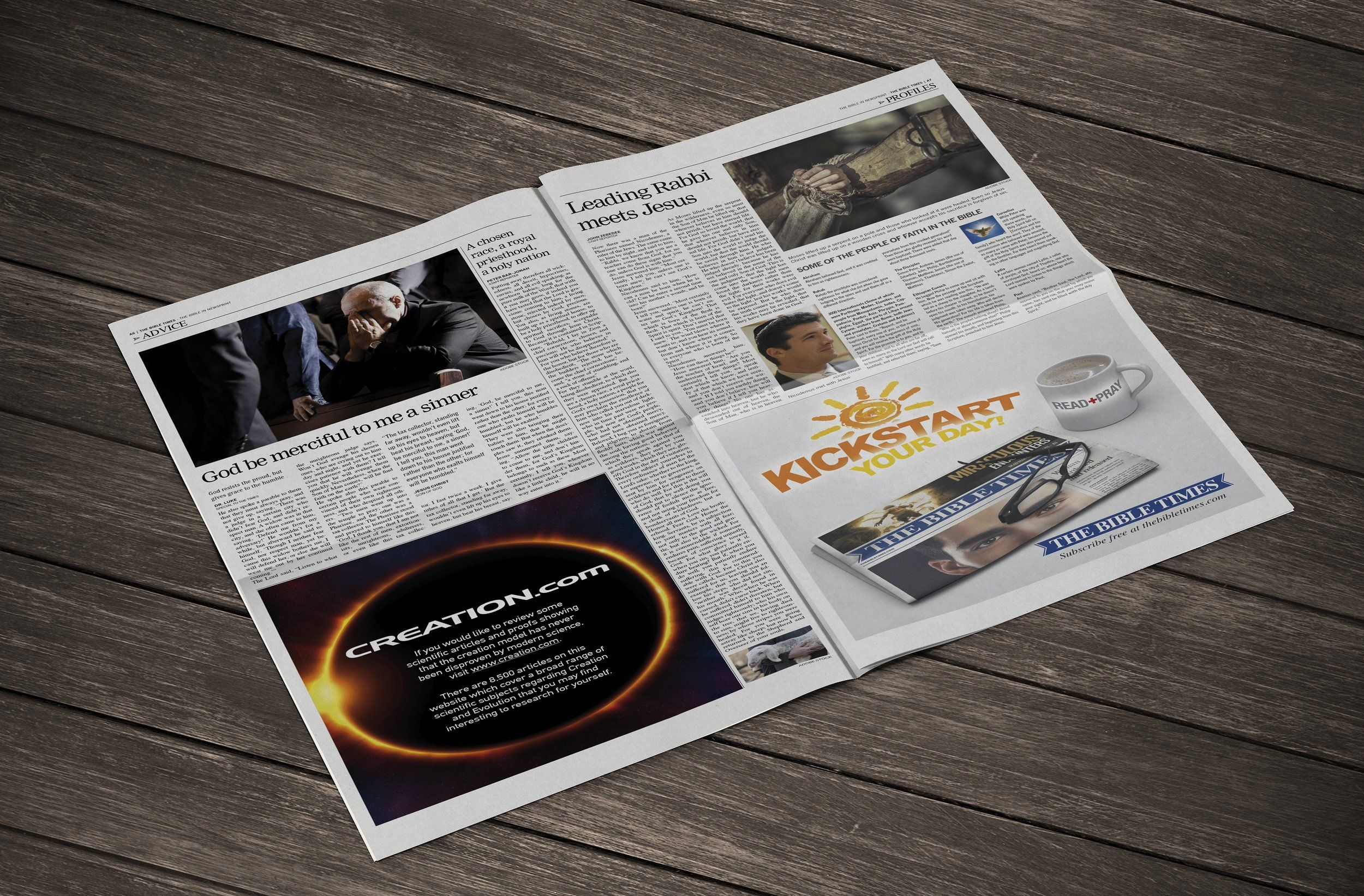 12 Page Newspaper Template InDesign