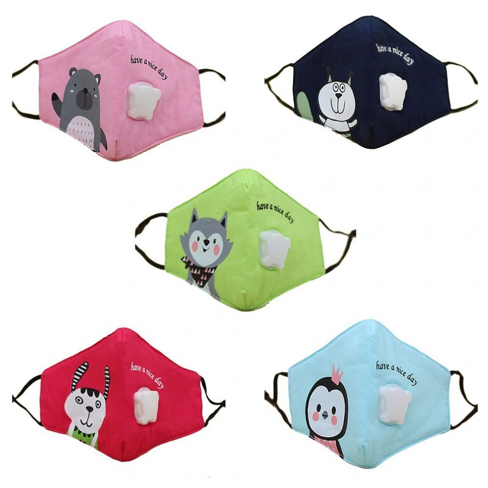 PM2.5 Children Cotton Anti-Dust Mask Activated Carbon Filter and Mouth Piece Breathing Valve PM2.5 Children Cotton Anti-Dust Mask Activated Carbon Filter and Mouth Piece Breathing Valve  Price: 2.99 & FREE Shipping
