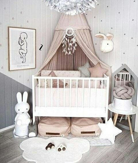 30 Timeless Taupe Home Décor Ideas: 15 Timeless Perfect Combination Of Pink-Gray Nursery