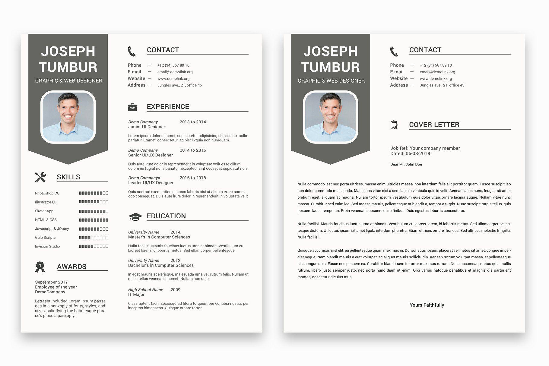 Clean Resume Template Cv Clean Resume Template Resume Template Clean Resume