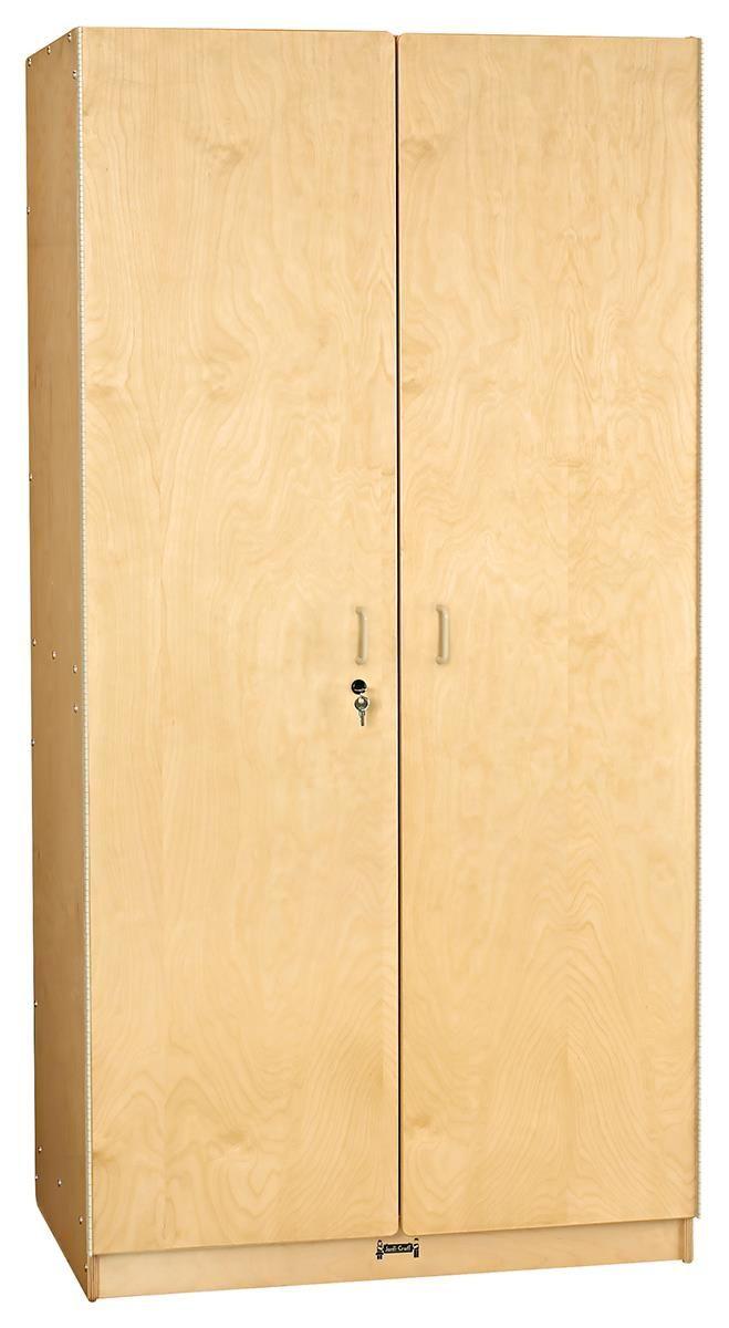 Children S Storage Cabinet Jonti Craft Lockable Adjustable Shelves Wood Natural Lockable Storage Cabinet Craft Storage Cabinets Lockable Cabinets