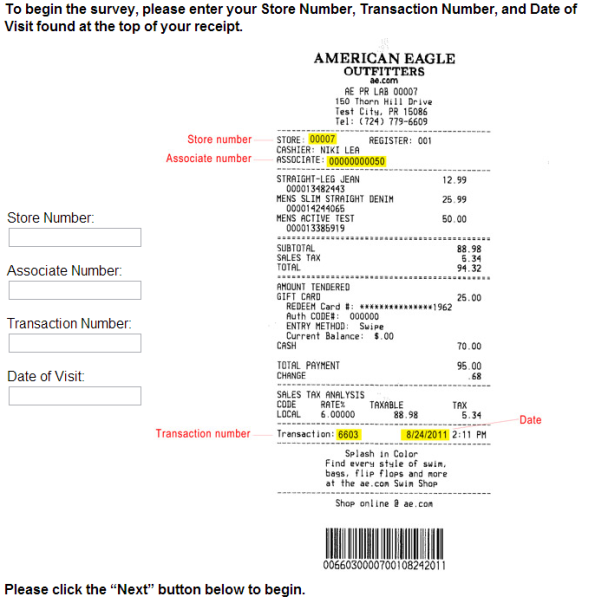 American Eagle Outfitters Customer Survey WwwAeComTellus
