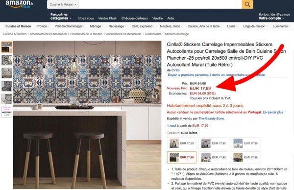 exemple de bon plan sur du carrelage adh sif pas cher. Black Bedroom Furniture Sets. Home Design Ideas