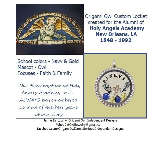 Origami Owl Locket For Academy Of Holy Angels Alumni New Orleans