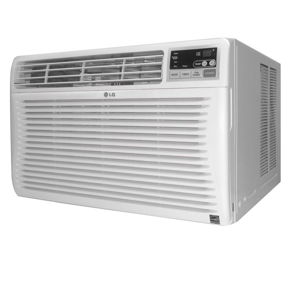 Lg Electronics 10 000 Btu Electronic Window Air Conditioner With Remote In White Lw1012er Window Air Conditioner Lg Electronics Windows