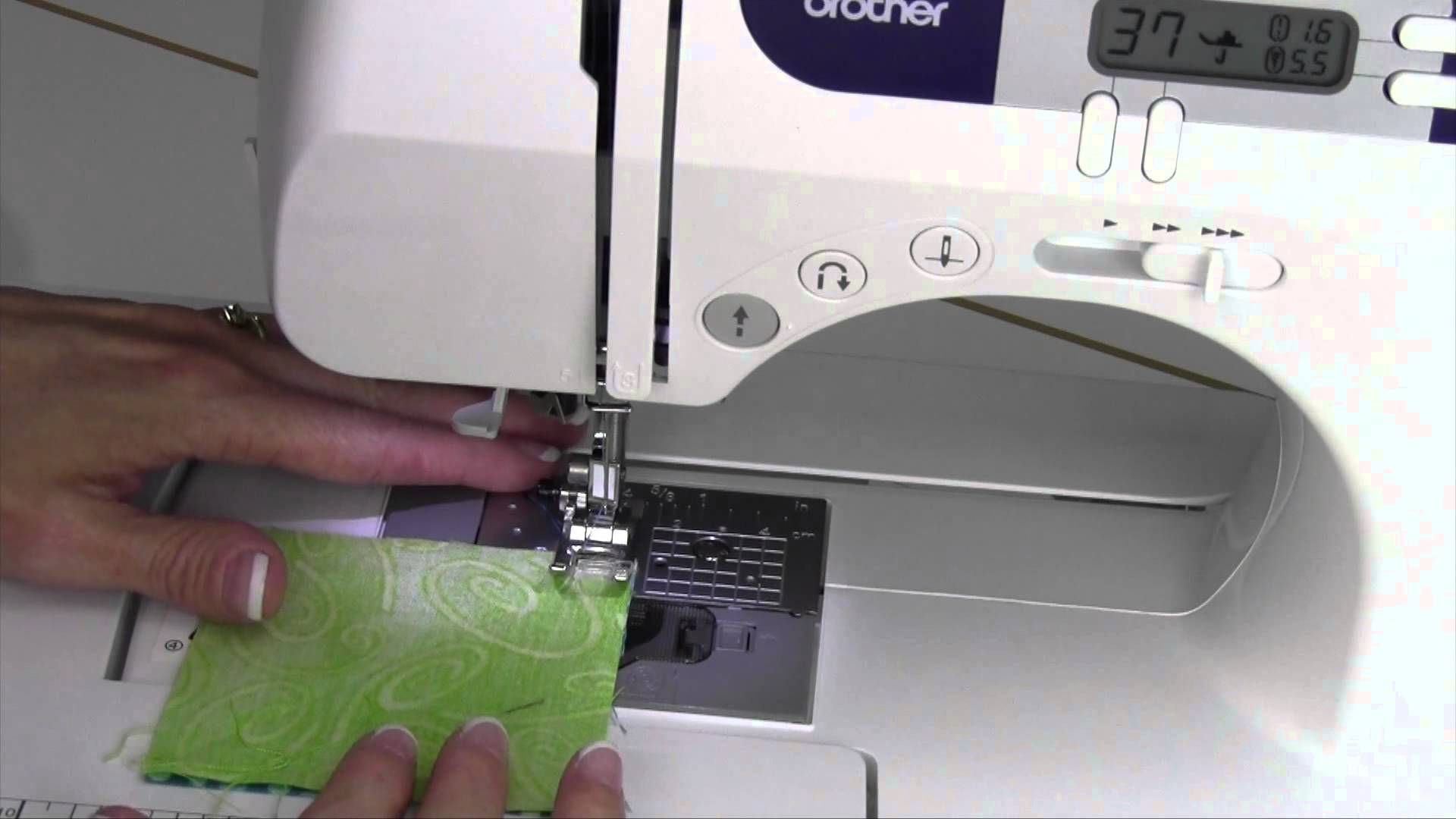 Learn How To Create A Perfect Quarter Inch Seam On The Brother Cs600i Check Out The Fu Quarter Inch Seam Brother Sewing Machines Brother Cs6000i Sewing Machine