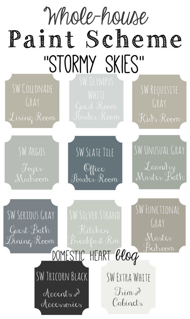 Stormy Skies 609x1024 Paint Colors For Home House Colors House