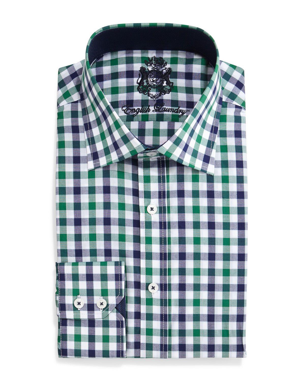a36b5dd64f3 English Laundry Gingham Check Dress Shirt
