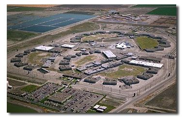 Aerial view of California State Prison, Corcoran. CLICK to ...