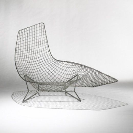 Harry Bertoia Important Prototype Lounge Chair Usa C 1952 Welded Steel Wire 58 W X 44 D X 35 75 H Inches The Lounge Bertoia Furniture Mod Furniture