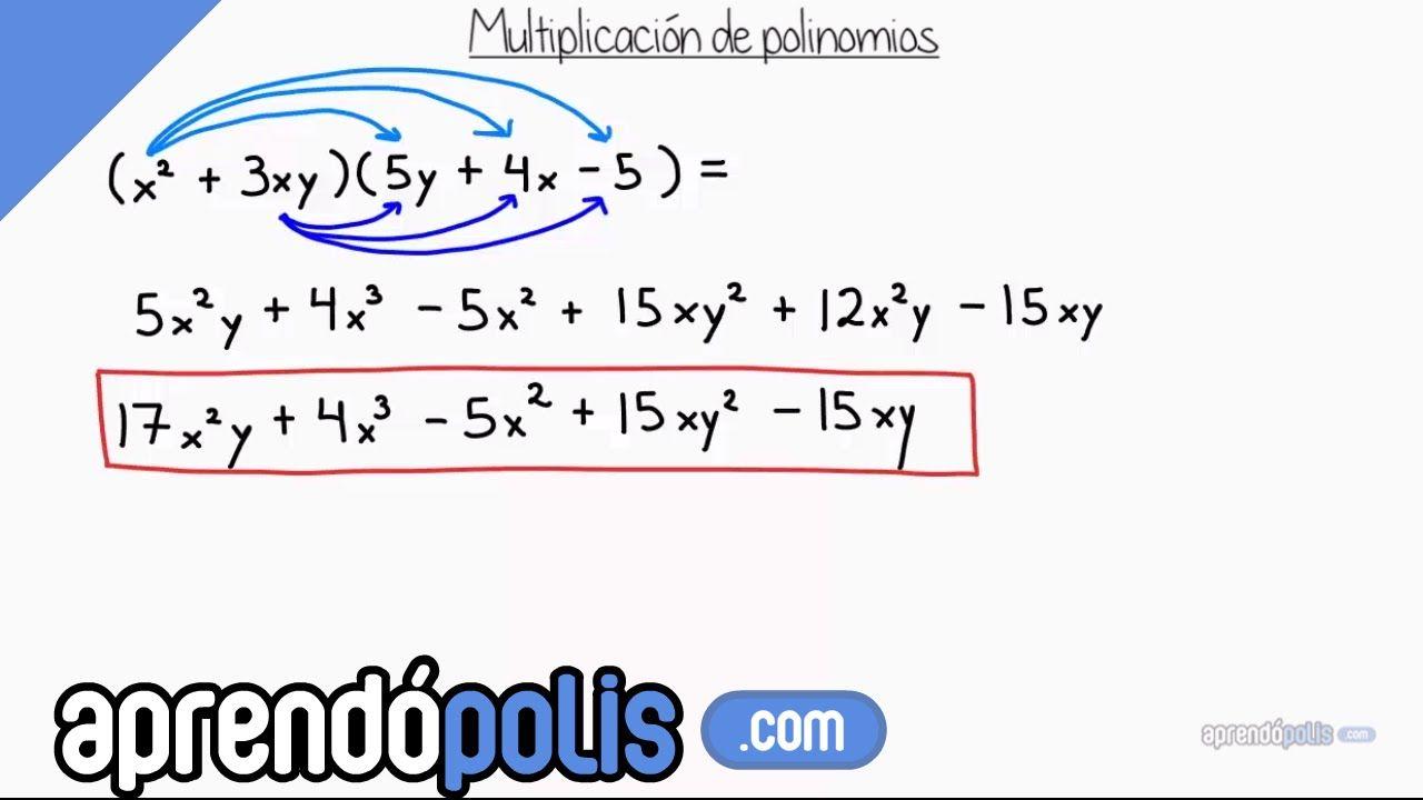 Multiplicación de polinomios | Matemáticas :D | Pinterest ...