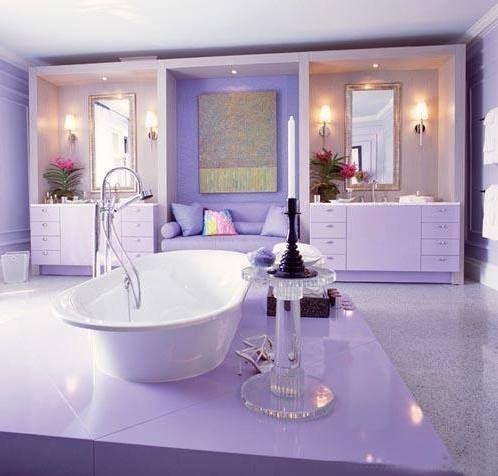 luxury bathroom | purple bathrooms, purple home, purple rooms