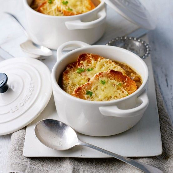 This warming, comforting soup is made of caramelised onions and beef stock topped with buttery French bread croûtes and melted Gruyère cheese. French onion soup dates back to the 18th century and is one of the most recognised (and appreciated!) soups in the world.