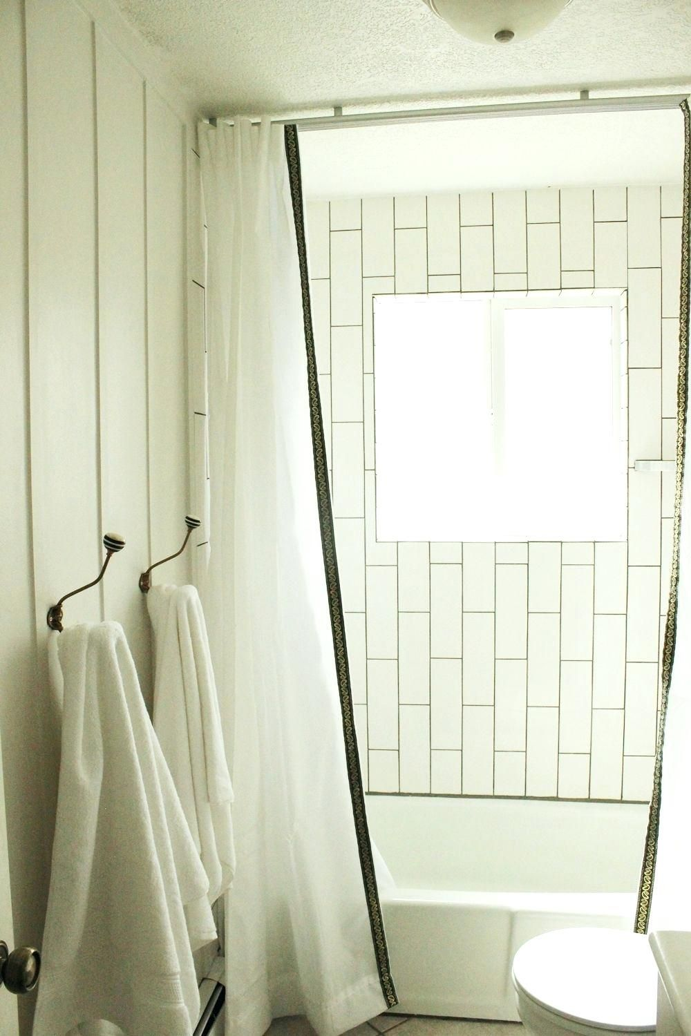 12 Incredible Ideas How To Upgrade Ceiling Shower Curtain Track Di