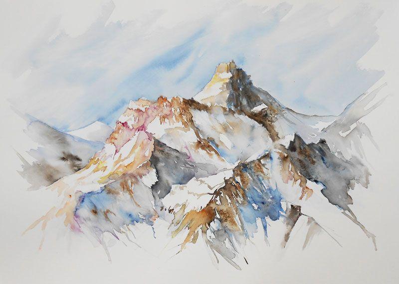 Tableaux Aquarelle Paysages Par Peintures De Montagne