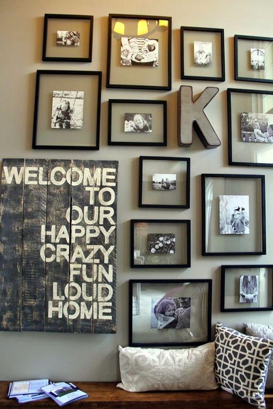 Family Photo Decor Ideas Part - 33: 40 Best Family Picture Wall Decoration Ideas | Art.ekstrax.com/u2026