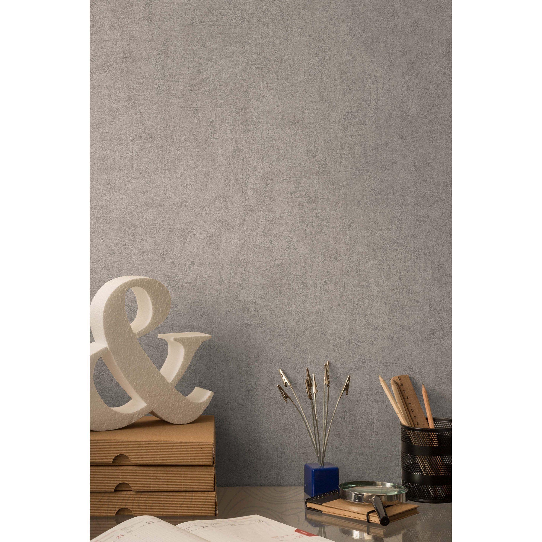 Décoller Papier Peint Produit papier peint vinyle sur intissé patine taupe | papier peint