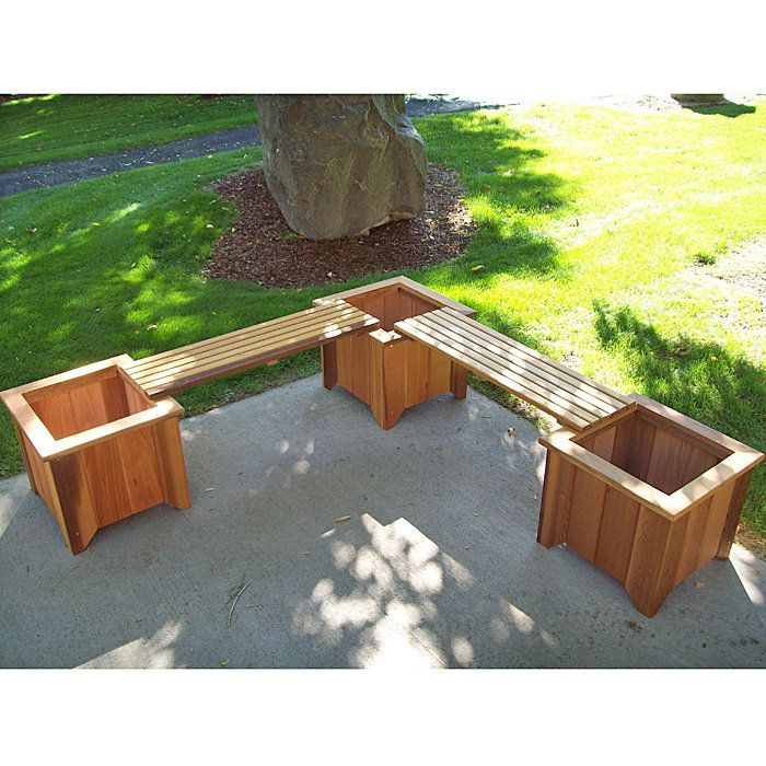 Extra Seating On Patio, Could Do With Two Planters And One Bench. Three  Cedar Planters/Two Bench Set   Might Be Nice In The Backyard