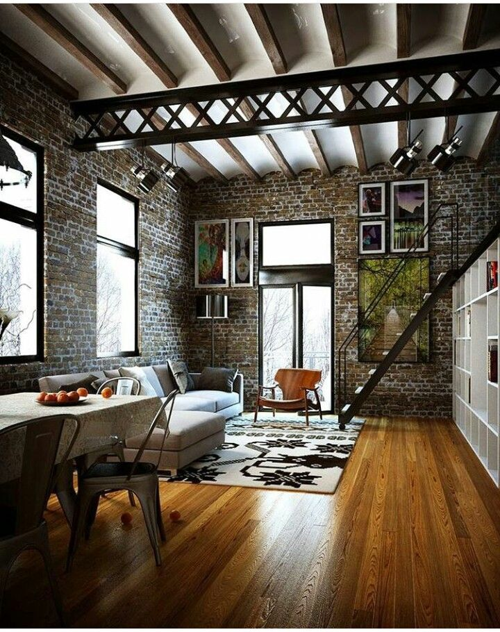 Pin de mar a mart nez en for the home decora o estilo for Decoracion loft industrial