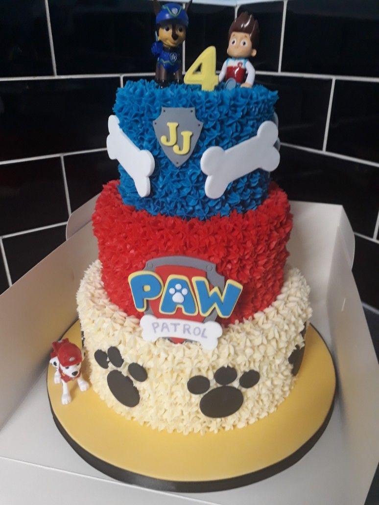 Paw Patrol 3 Tier Buttercream Cake Paw Patrol Cake Birthday