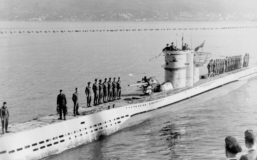 U-251, a Type VIIC U-boat, returns to Narvik after an ...