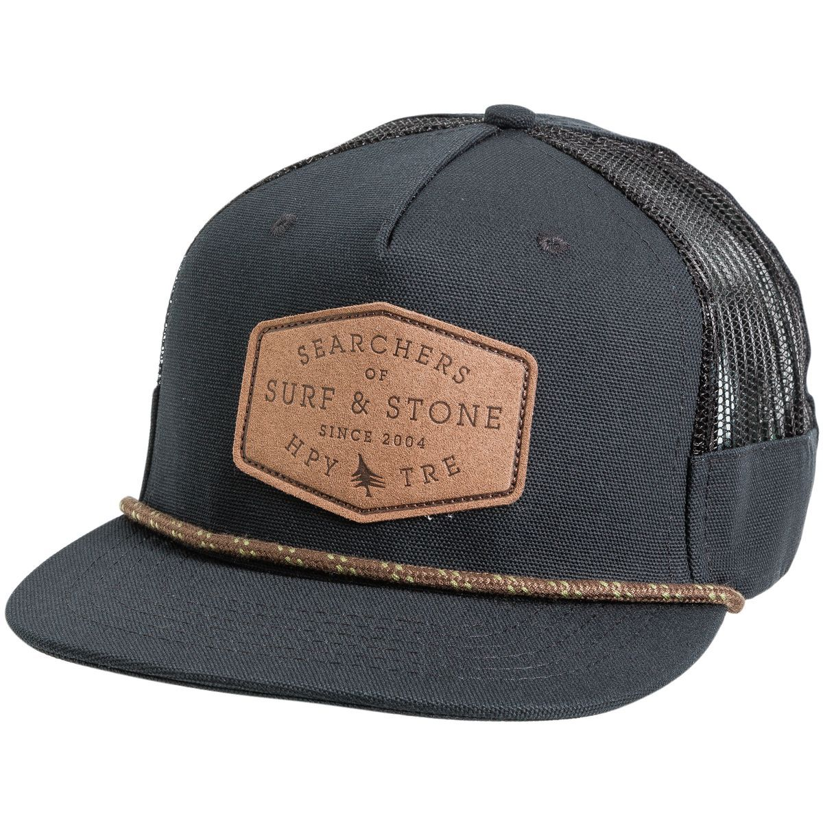 7236e2faf8c HippyTree Compound Hat. Men s flat brim hat. Five panel mid-profile design.  Adjustable snap back. Organic cotton canvas exterior. Mesh side vents.